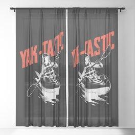 Kayaking Yak-tastic Minimalstic Sheer Curtain