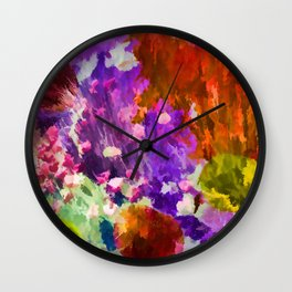 Explosion of Color Wall Clock