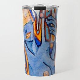 Blue-Orange Travel Mug