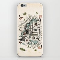 minneapolis iPhone & iPod Skins featuring Minneapolis Map by Jared Tuttle