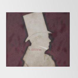 Robert Louis Stevenson, Dr. Jekyll and Mr. Hyde - Minimalist Literary Design Throw Blanket