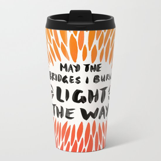 Bridges Burned – Fiery Palette Metal Travel Mug