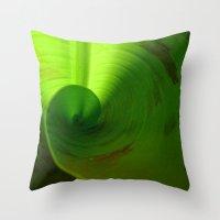 banana leaf Throw Pillows featuring Banana Leaf II by moo2me