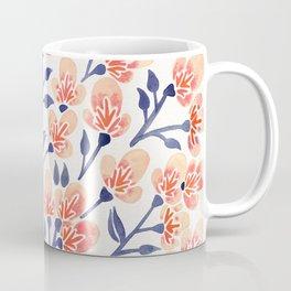 Cherry Blossoms – Peach & Navy Palette Coffee Mug