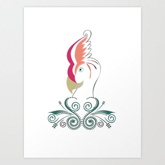 Psycho Parrot Art Print