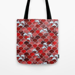 Wave Jumpers (Red) Tote Bag