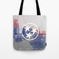 tennessee Tote Bags featuring Nashville, Tennessee by Matt Scott Crum