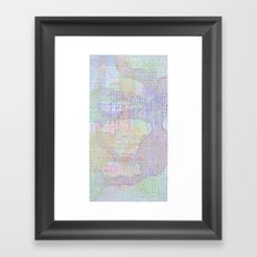 Words and Water Paint Framed Art Print