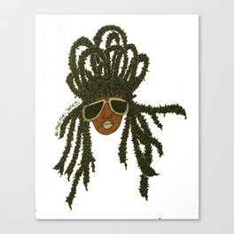 Crown of Locs Canvas Print