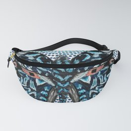 Butterfly Blues Fanny Pack