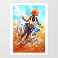 always sunny Art Prints featuring Always Sunny by Art of Golden Muse