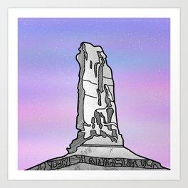 Castle Rock Castleton Tower Art Print