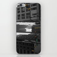 detroit iPhone & iPod Skins featuring Detroit  by Galaxys_Limit
