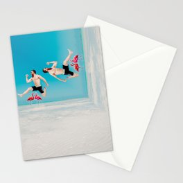 jumping over flamingoes Stationery Cards