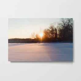 Winter on the lake Metal Print