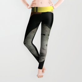 Enso Abstraction 109A by Kathy Morton Stanion Leggings