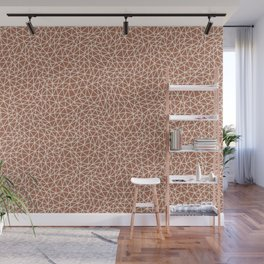 Sherwin Williams Creamy Off White SW7012 Abstract Multi Sized Triangle Shape Pattern on Cavern Clay Wall Mural