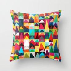 Abstract Geometric Mountains Throw Pillow