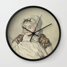 Portrait of Cornelia Johanna van Os, Georgius Jacobus Johannes van Os, 1804 Wall Clock