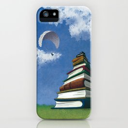 Paragliding - Mountain of Books iPhone Case