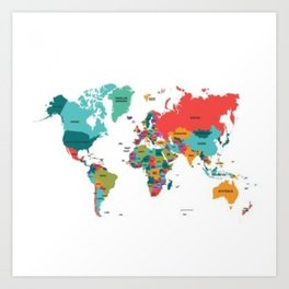 beautiful map Art Print