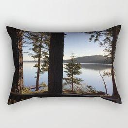 Lake Tahoe cabin view Rectangular Pillow