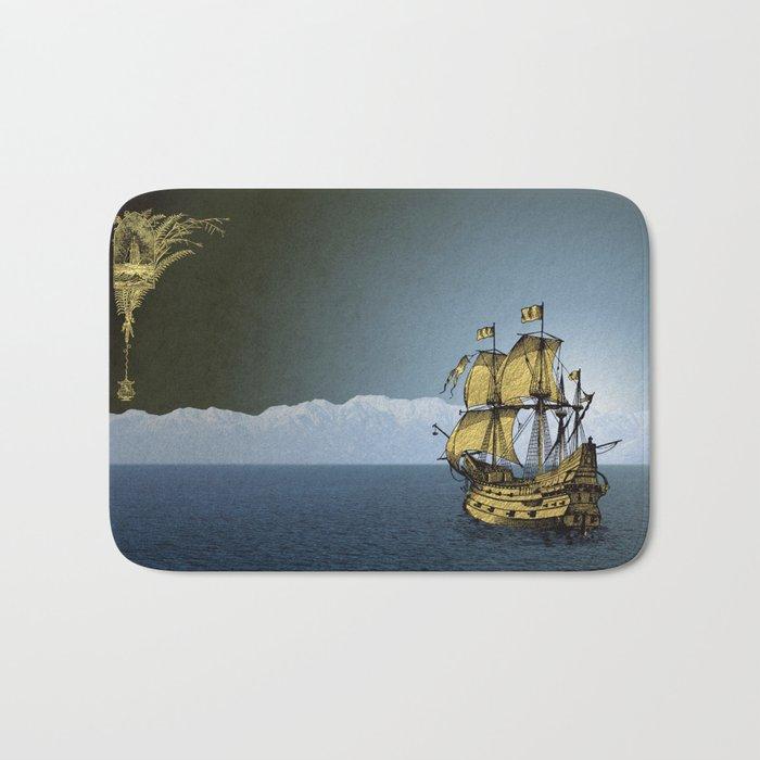 Ships That Pass In The Night Bath Mat