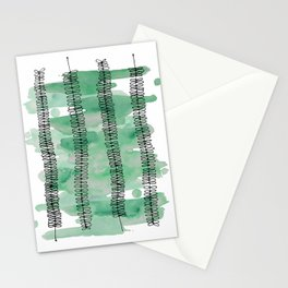 Kowhai branches watercolor Stationery Cards