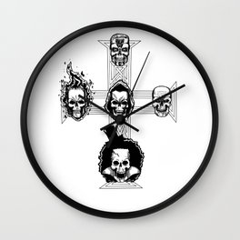 Appetite for Skulls Wall Clock