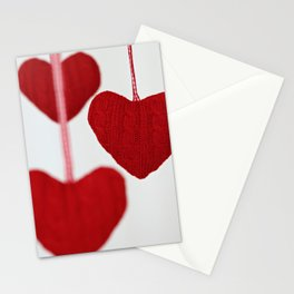 christmas decoration and valentine heart shape Stationery Cards