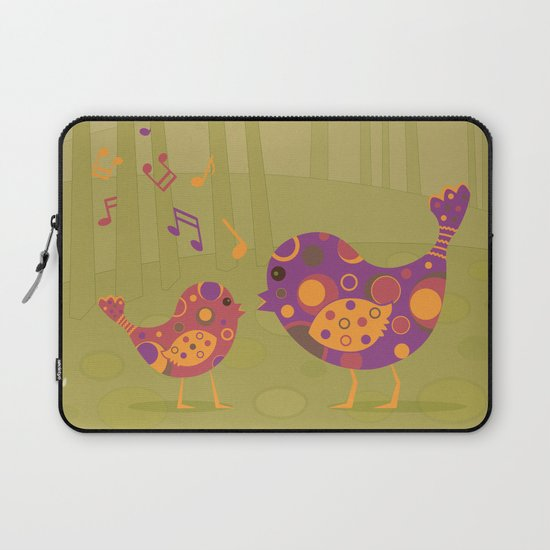 Bird Duet Laptop Sleeve