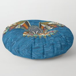 night owl blue Floor Pillow