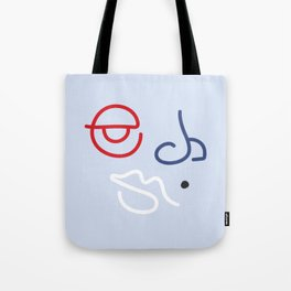 Fractured Art Face Pattern Tote Bag