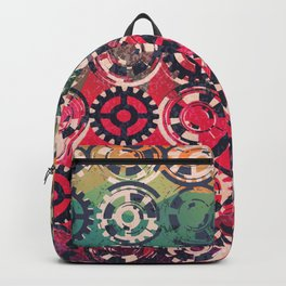 Grunge industrial pattern Backpack