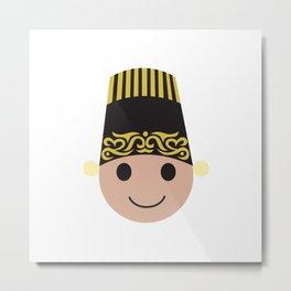 East Java Headdress - Male  Metal Print
