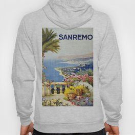 San Remo - Italy Vintage Travel Poster 1920 Hoody
