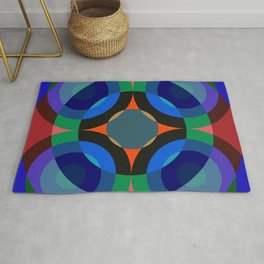 Blosomah - Colorful Abstract Art Rug