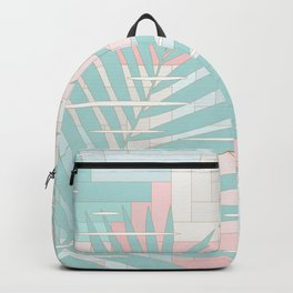 Summer Mood with Chevron and Palms Backpack