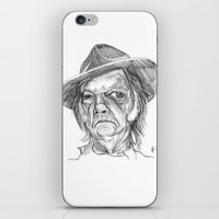 neil gaiman iPhone & iPod Skins featuring Neil Young by Mark T. Zeilman