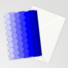 Hexagons (Blue) Stationery Cards