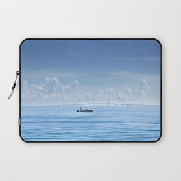 Fishing boat in front of Sunshine Skyway Laptop Sleeve