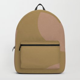 Brown Wheat Minimal Half Circle Design 2021 Color of the Year Canyon Dusk & Brazilian Citrine Backpack