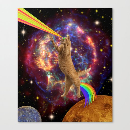 CAT SPACE  Canvas Print