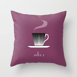 Zebra. Burgundy Throw Pillow