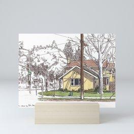 Corner of A Street, Davis Mini Art Print