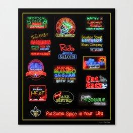 Bourbon Street Neon Signs Canvas Print