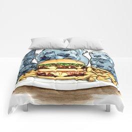 Burger Dogs Comforters