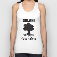 israel Tank Tops featuring Israel Defense Forces - Golani Warrior by crouchingpixel