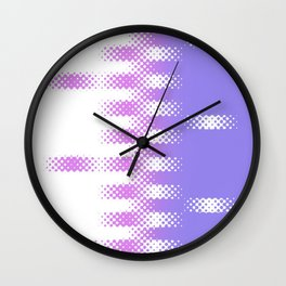 Pink Purple Checkerboard Wall Clock