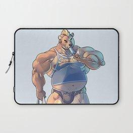 Bara Bear Blue Laptop Sleeve